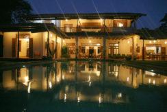 2 Rear of villa at twilight