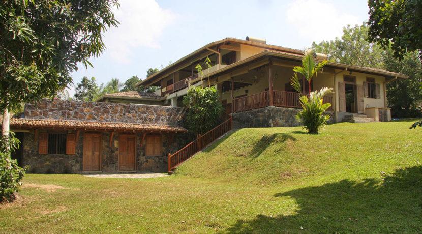 Garden side of villa