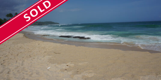 An exceptional piece of land with private Beach