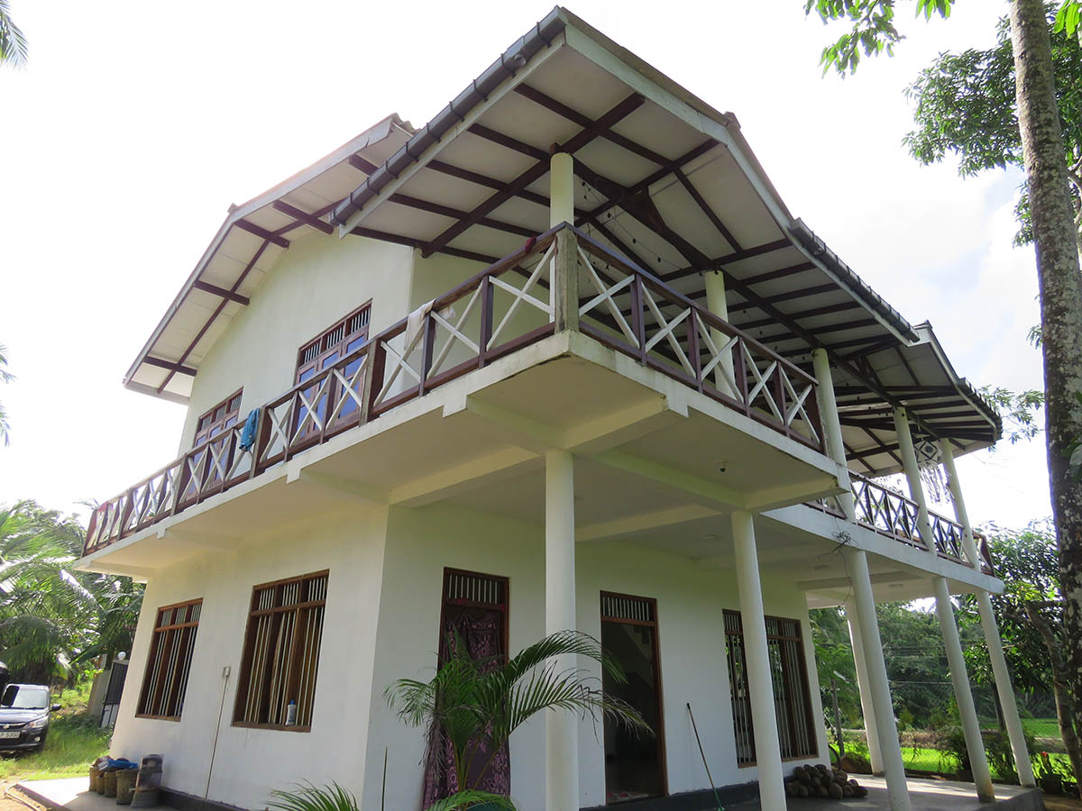 House with paddy views