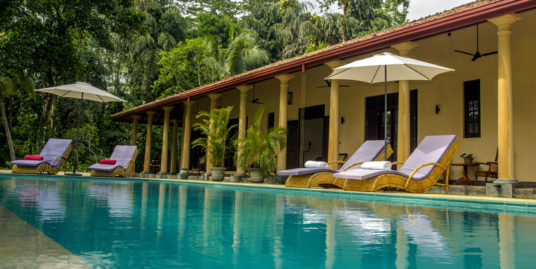 Colonial plantation house, beautifully positioned in a tropical garden