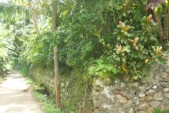 street and retaining wall