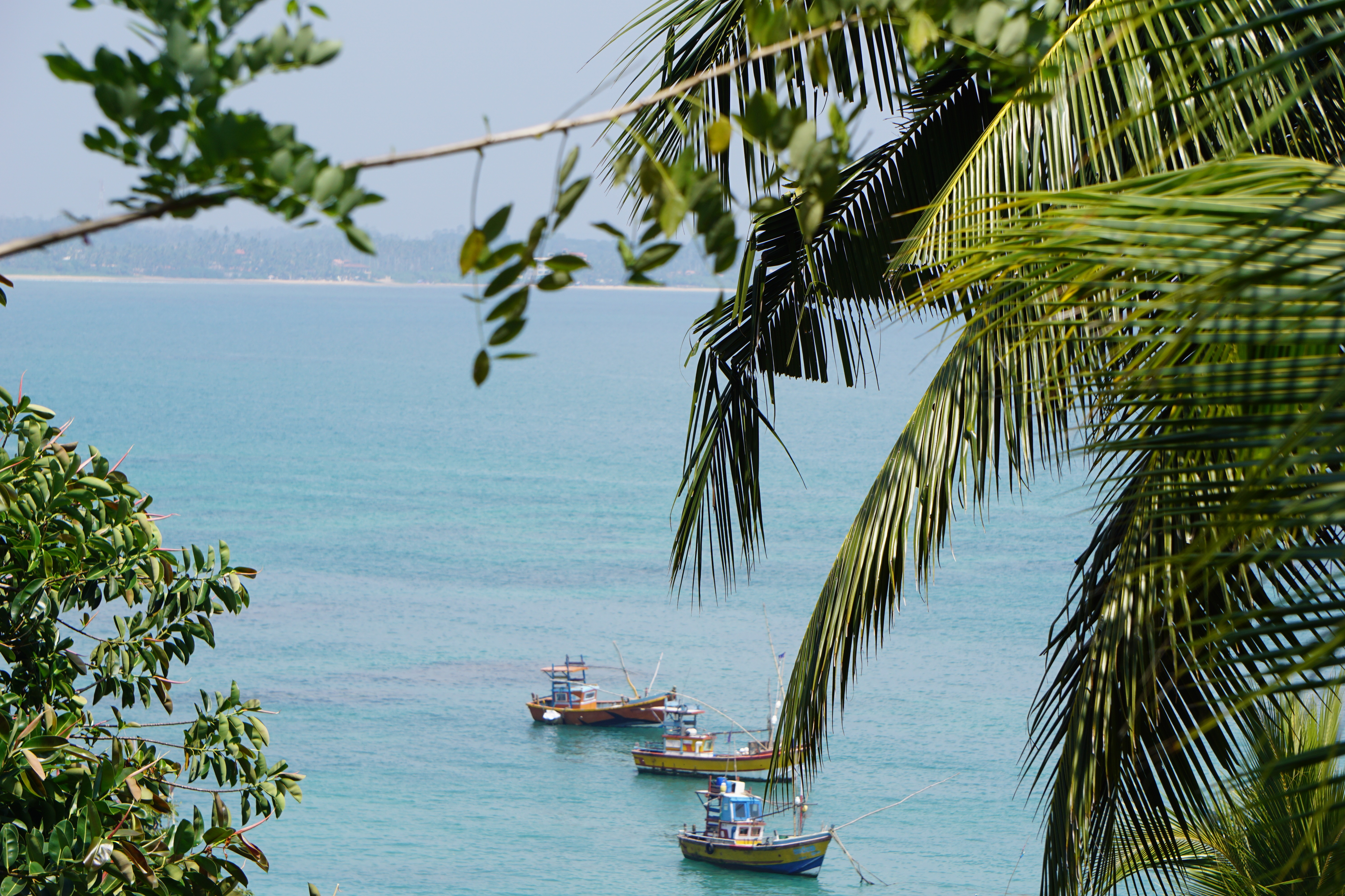 Picturesque views over Weligama bay