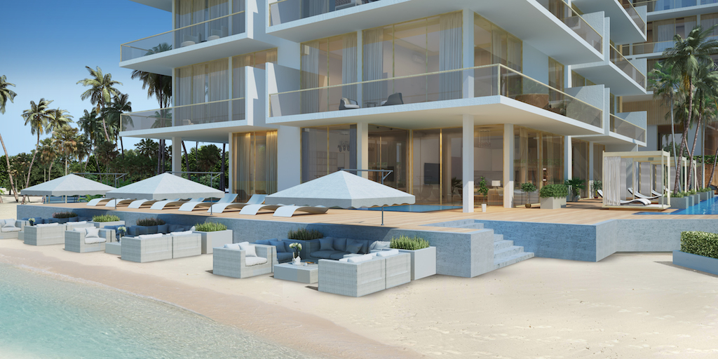 Luxury beachfront garden villas
